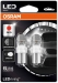 Osram LED lemputės, P21W  BA15s 12V/4W (21W) raudona, 2pcs 7556R-0