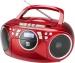 CD grotuvas su AUX, raudonas