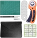 Audinių peilių rinkinys, audinio pjaustytuvas su ašmenimis, apvalus peilių rinkinys su pjovimo kilimėliu, siuvimo liniuotė, amatų peilis audinių pjaus