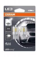 Osram LED lemputės, W21W T20 W3x16D 12V/2,5W(21W) Balta 6000K, 2vnt.7705CW-02B