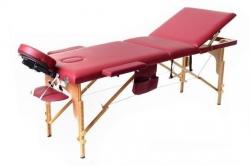 3 dalių masažo stalas, bordo