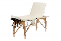 3 dalių masažo stalas, kreminis