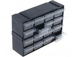 LADRCO16 Ištraukiami plastikiniai stalčiukai