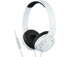 JVC, HA-SR525WE, baltos sp. dinaminės ausinės