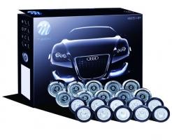 Dienos šviesos žibintai LED LD825DUOS, sidabrinis