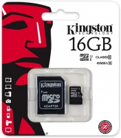 Atminties kortelė, microSD Kingston, 16GB Class 10