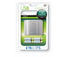 PHILIPS, SCB5050NB įkroviklis AA baterijai nuo USB jungties