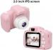 Skaitmeninis fotoaparatas vaikams FULL HD raiška, rozinis