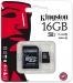 Atminties kortelė, microSD Kingston, 16GB Class 10