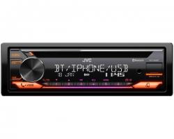 JVC, KD-T922BT 1-DIN USB/CD MP3 magnetola su AUX ir Bluetooth