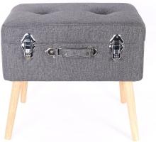 Namų rekorui lagaminas - dėžutė, tamsiai pilka