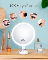 AEVO 10x makiažo veidrodis su LED apšvietimu