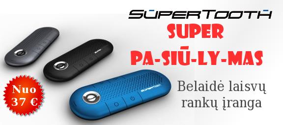 Supertooth bluetooth belaidė laisvų rankų įranga